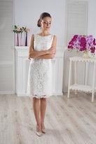Укороченное свадебное платье