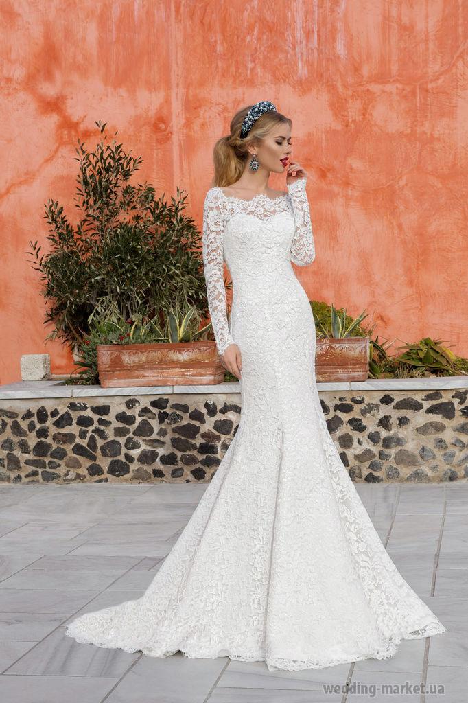 7feb114bbd04e5d Свадебное платье русалка, рыбка, годе купить в интернет магазине ...